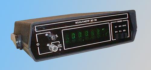 Универсальный цифровой вольтметр В7-38 предназначен для измерения основных электрических величин- напряжения
